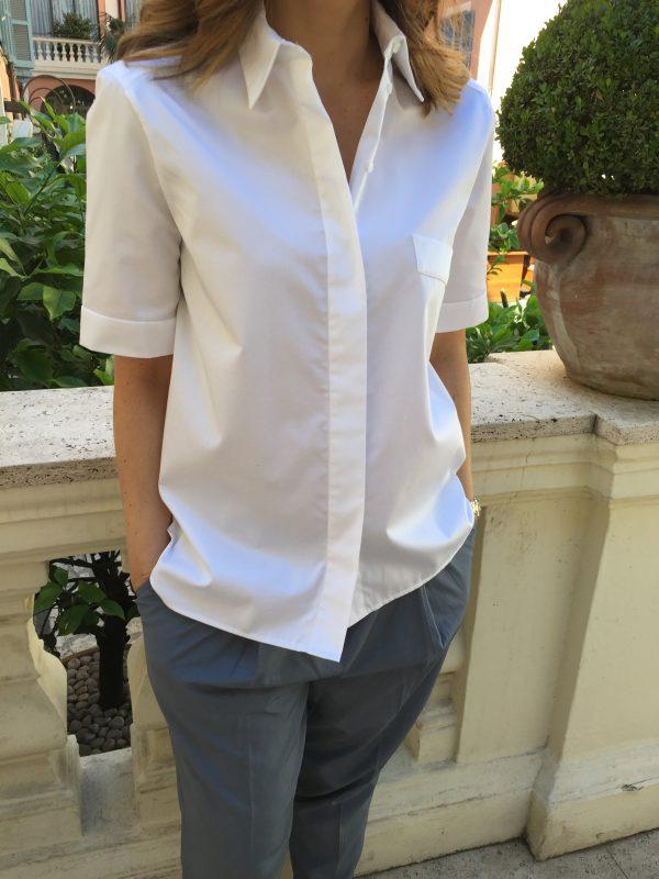 Chemise à manches courtes oversize